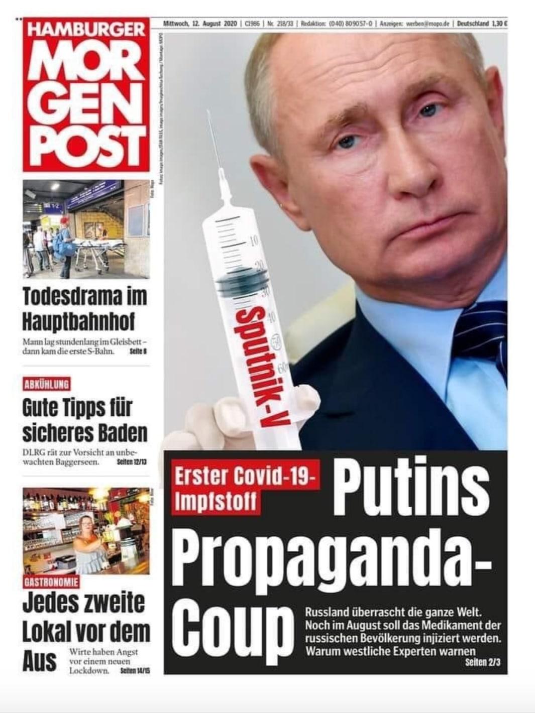 Над «вакциной Путина» уже потешается весь мир